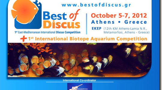 Best of Discus 2012 and 1st INTERNATIONAL BIOTOPE AQUARIUM COMPETITION