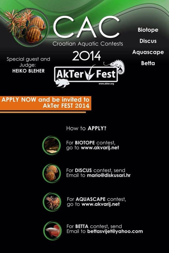 Croatian Biotope Aquarium Contest 2014