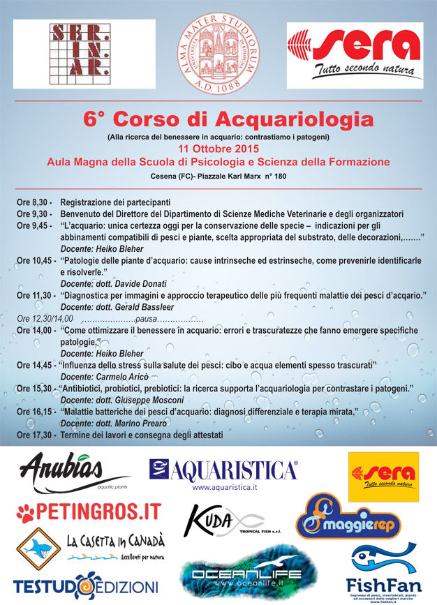 6th Course Aquariology – Cesena (FC) Italy