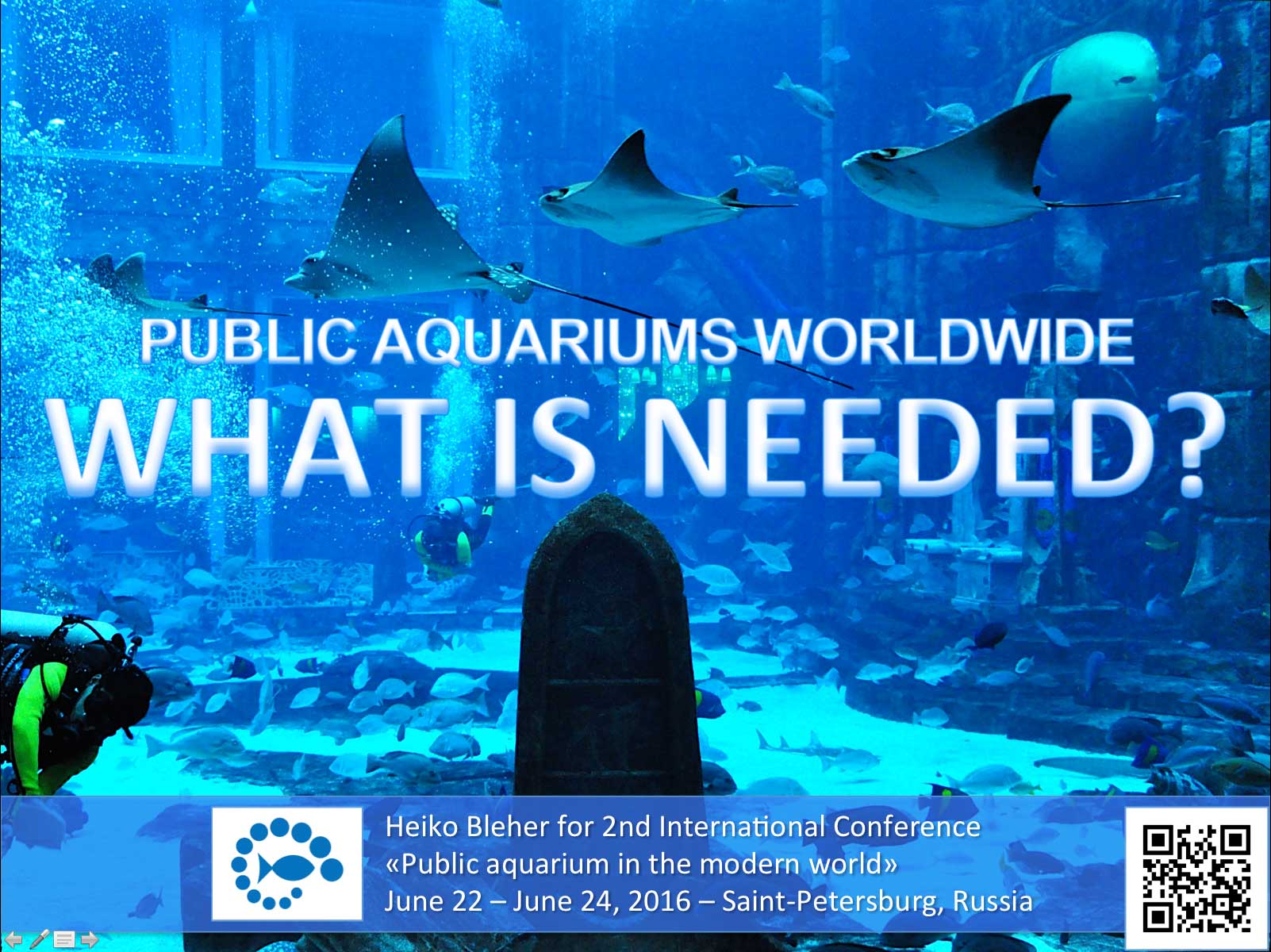 Heiko Bleher for 2nd International Conference – Public aquarium in the modern world