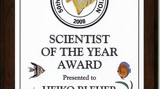 SCIENTIST OF THE YEAR AWARD 2009