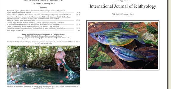 aqua International Journal of Ichthyology