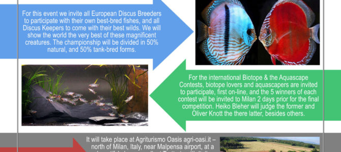 SCHMIDT-FOCKE  HONORED DISCUS SHOW AND CHAMPIONSHIP – INCLUDING BIOTOPE AQUARIUM CONTEST AND AQUASCAPE COMPETION